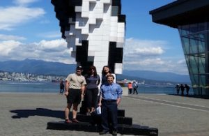 A corporate team enjoying our Vancouver Scavenger Hunt